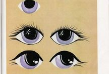 Kresba, obličeje, oči