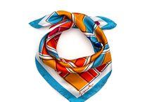 Orange Rooms silk bandana