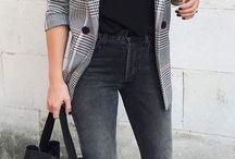 Plaid blazer women outfit