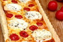 Quiches, tartes et pizzas
