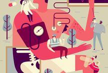 editorial + informational illustration