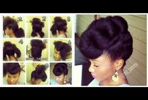 Natural roots / Natural black hairstyles and care
