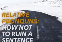 Grammar Tips for Writers / A resources for grammar lovers: syntax, vocabulary, troubleshooting –it's all in here!