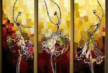 pinturas em acrilico