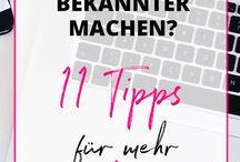 Was ein Blogger/In wissen sollte / Tools, Tipps, Blogspot,