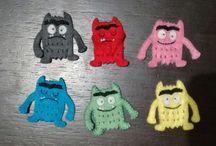 Felt finger puppets Monstruo de Colores / Monstruo de Colores Finger Puppets.