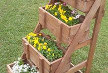 Decoração de jardim pallets