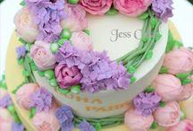 Çiçek Süslemeli Pastalar
