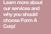 Company Formation Services / Learn more about Form A Corp's services!