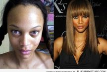 without make-up / Lets not fool our selves! Make-up and photoshop can make us into who ever we want to be. Just love thou self!