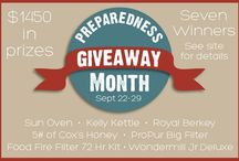 Giveaways! / Check back often for new giveaways, including survival gear, preparedness items, and lots of great books including fiction and non-fiction. / by Backdoor Survival