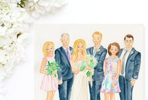 Watercolor Paintings by Simply Jessica Marie / Feminine Custom Watercolor Paintings, Watercolor Art, Bouquet Paintings, Wedding Paintings, Watercolor Wedding Paintings, Wedding Portraits, Watercolor Portraits, Watercolor Family Paintings and Watercolor Venue Paintings by Simply Jessica Marie