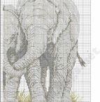 kreuzstich elefant