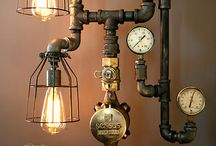 mad scientist essential / Cool gadgets in steampunk style.
