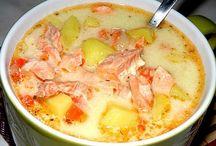суп финский с лососем