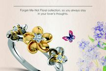 Forget-Me-Not / Floral Jewellery for enduring memories of your love!  http://www.caratlane.com/jewellery/forget+me+not+jewellery.html?utm_source=Pinterest&utm_medium=ODigMa+Pins&utm_campaign=Jewellery+Collection