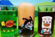 アンパンマン アニメ❤おもちゃ アンパンマングラスに駄菓子屋のジュース!Anpanman toys