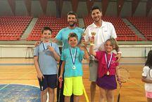 Badminton Patras tournaments / Playing badminton