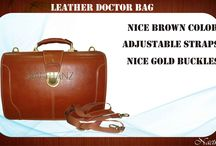 "DOCTORS BAGS / Model no. : DBG027 Color	Brown Type	Doctor bag Size	: 17"" X 13"" X 7"" Leather	100% Genuine Cow Crunch oil Pull Up Leather  AFFAIR	Formal   Additional features •	Good combination of metallic gold buckles and brown leather •	Medium handle crop •	Extra adjustable shoulder straps •	Nice and clean stiches  •	Ample space inside •	Available in any pantone shades •	Looks smart and stunning"
