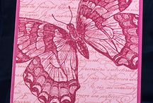 butterflies / simple cards to make with butterfly stamp