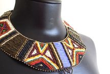 Beadwork / Handmade beadwoven art jewelry; african, ethnic and tribal inspired