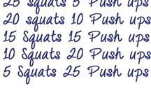 Work Out Ideas & Healthy Snacks / Ideas for getting healthy and creating new health focused habits