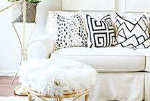 CUSHION PRINTS / Monochrome, colourful, DIY,chic cushion prints for the home