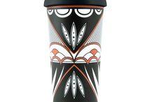 Pueblo Pottery Design Travel Mugs