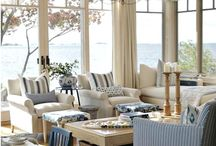 Coastal Decorating Schemes / Whether you love the classic coastal schemes for your interior decorating projects incorporating the blues and greens of the ocean or a more simple neutral colour palette, there is heaps of inspiration here for your coastal look.