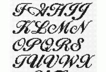 Borduurpatronen alfabet