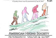 National Trails Day 2013 Coloring Contest Winners! / The judges had a difficult job -- all of the entries in our coloring contest were fantastic. The votes are in, and these are the winners! Thanks to LOWA Boots and TheNorthFace for sponsoring the contest!