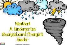 Weather Unit / Everything you need for your weather unit in preschool, kindergarten or first grade, including songs, poems, books, crafts, etc.