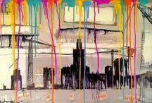 Wojciech Brewka / Absolwent Uniwersytetu Łódzkiego. Tworząc prace autor wykorzystał narzędzia używane przez artystów pracujących  na ulicy oraz tych tworzących w zaciszach pracowni. Autor zafascynowany jest berlińskim street artem. Chcąc przybliżyć swoją sztukę masowemu odbiorcy wykonuje kopie prac w formie naklejek, którymi bombarduje miasto.