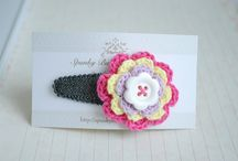 Crochet hair accessories / Hairbands, clips, bobbles and more