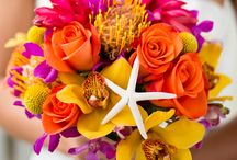 Multi color wedding flowers / by Toni Smith