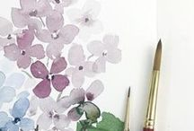 Flower drawing painting