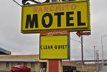 Route 66 Motels, Cafes & More / snippets of history / by Kathy Walker