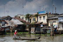 Flowting marked  Vietnam Mekong