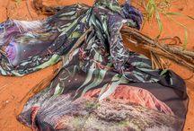 Silk Scarves with Australian themes