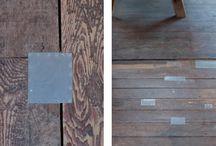 Floorboards / Worn, rustic floorboards.