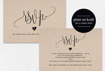 Wedding RSVP Response Cards