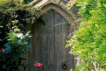 Into The Enchanted Garden... / Beautiful garden gates that look as if they must lead to a magical garden space.