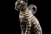 Chat antique / Statue de chat