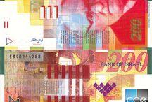 Billets Israël / Les billets de banque Israël en circulation sont : 20, 50, 100 et 200 Shekels. Les nouveaux billets de 50 et 200 (série 3) sont sortis en 2014-2016.