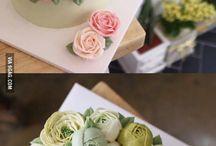 Flori din cremă
