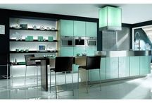 Forty Shades of Green / A stunning collection of kitchens featuring green