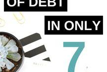 Tackling Debt / Debt payoff strategies, eliminating debt, reducing debt.