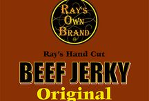 Rays Own Brand Artisan Beef Jerky / No Added Sugar, Gluten Free, and No Preservatives. All Natural High Protein snack- made with Sea Salt. Great for skiing, hiking, biking, surfing and survival packs.