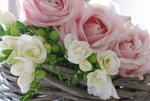Blush, rose, pink flowers and wreaths