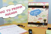 Haz tu Propia Agenda / Te mostramos como hacer una agenda encuadernada a mano con hilos y una cinta de tela, además te podrás descargar toda las hojas interiores con el calendario de 2016.